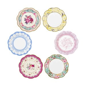 Sada 12 papírových talířů s 6 různými vzoryTalking Tables Truly Scrumptious
