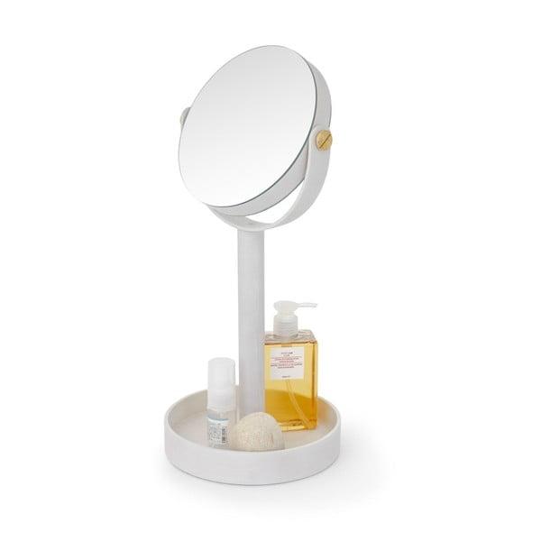 Kosmetické zvětšovací stolní zrcadlo zdubového dřeva Wireworks