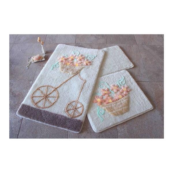 Zestaw 3 dywaników łazienkowych Alessia Salmon