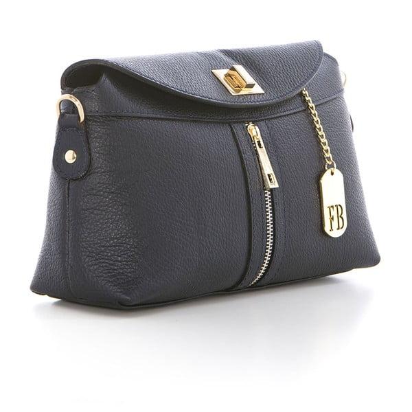 Tmavě modrá kožená kabelka Federica Bass Dione
