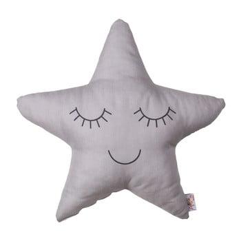 Pernă din amestec de bumbac pentru copii Apolena Pillow Toy Star, 35 x 35 cm, gri de la Apolena
