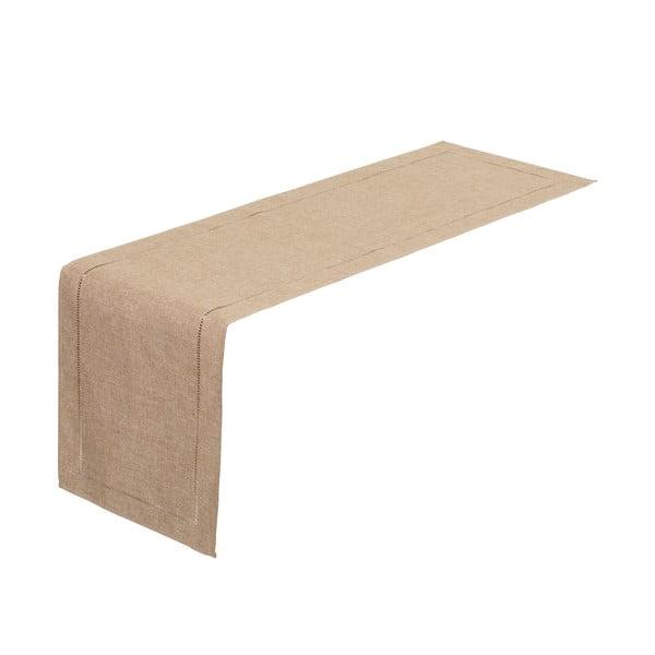 Béžový běhoun na stůl Unimasa, 150 x 41 cm