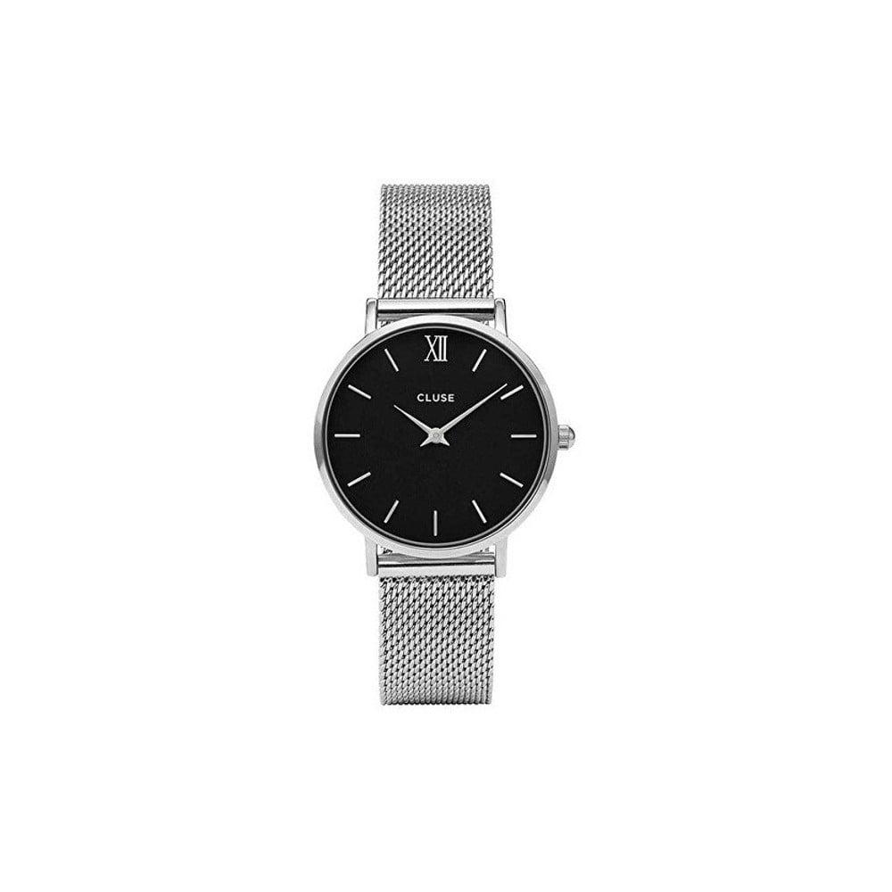 Dámské hodinky ve stříbrné barvě Cluse Minuit