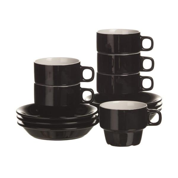Sada 6 šálků na cappuccino Black