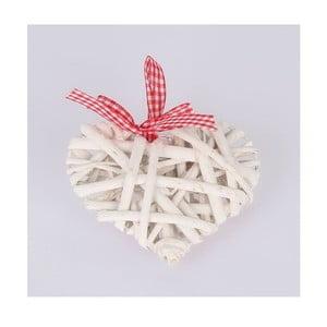Bílá závěsná ratanová dekorace Dakls Heart