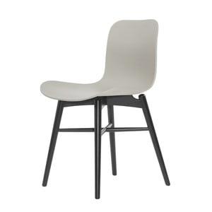 Šedá jídelní židle NORR11 Langue Dark