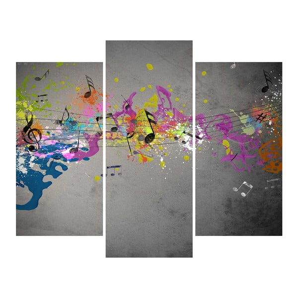 3dílný obraz Musical