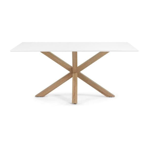 Jídelní stůl Arya, 180x100cm, bílá/přírodní