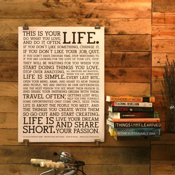 Plakát White Manifesto, 61x46 cm