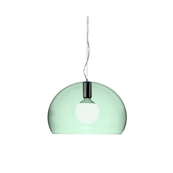 Menší zelené stropní svítidlo Kartell Fly