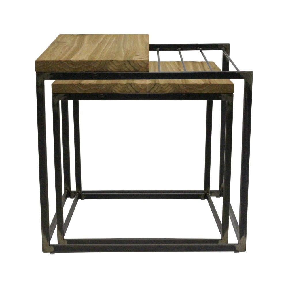 Sada 2 příručních stolků z borovicového dřeva Red Cartel Madison