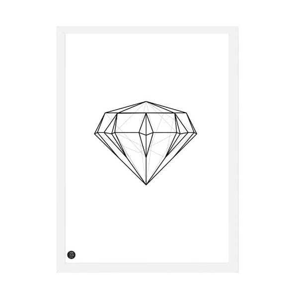 Plakát Diamond Geometric, 50x70 cm