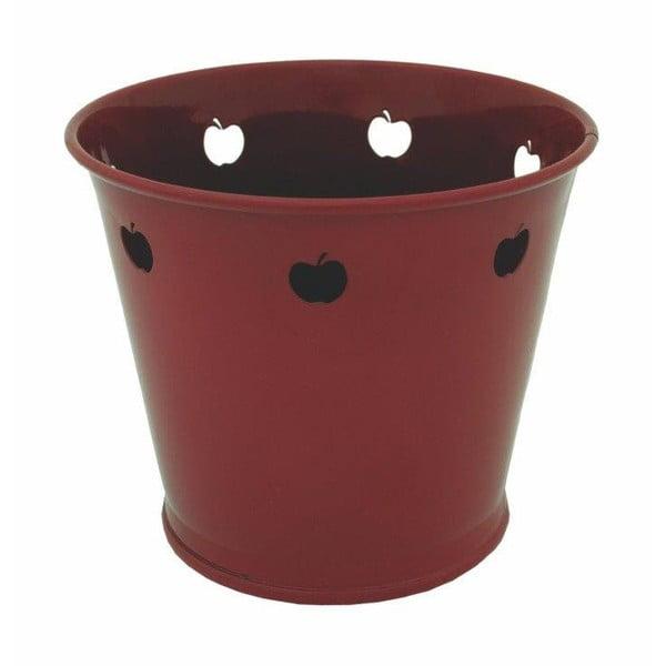 Kovový květináč Kovotvar s motivem jablka, 1.5 l
