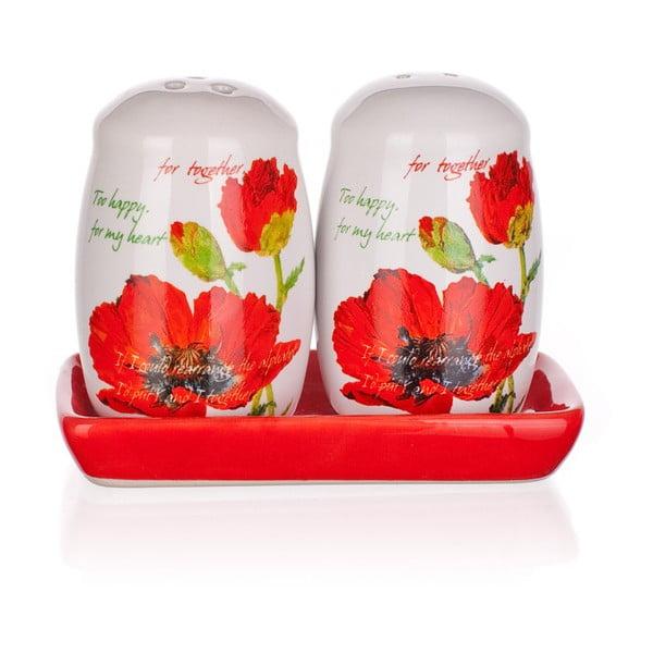 Sada solničky a pepřenky Banquet Red Poppy