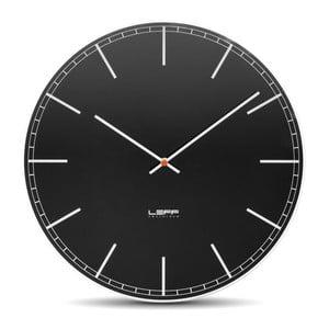 Skleněné nástěnné hodiny Black, 45 cm
