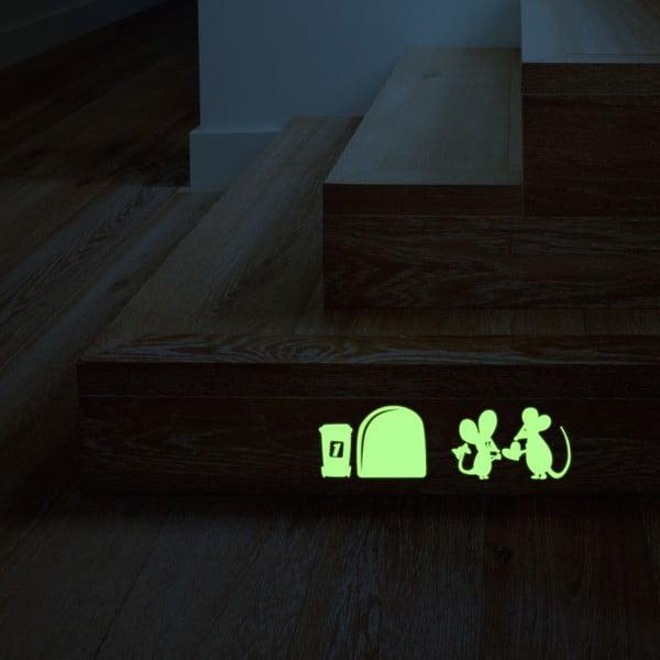 Samolepka svítící ve tmě MaDéco Little Mouses In Love