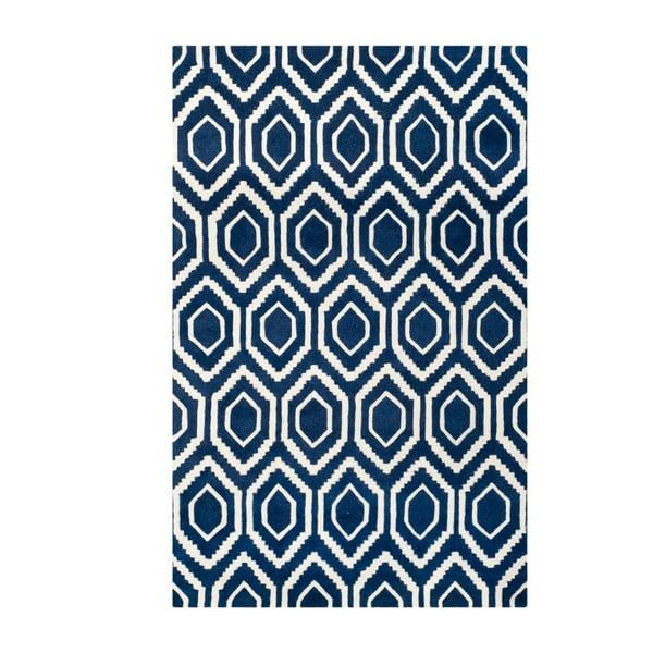 Vlněný koberec Safavieh Essex Navy, 274 x 182 cm
