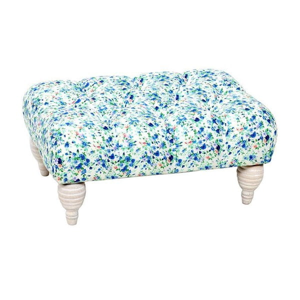 Taburetka Stool Blue Flowers, 52x35x25 cm