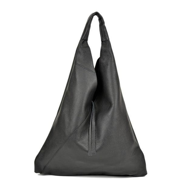 Černá kožená kabelka AnnaLuchini Alice