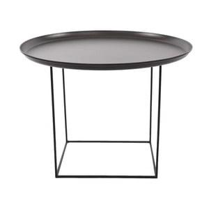 Černý odkládací stolek NORR11 Duke Medium