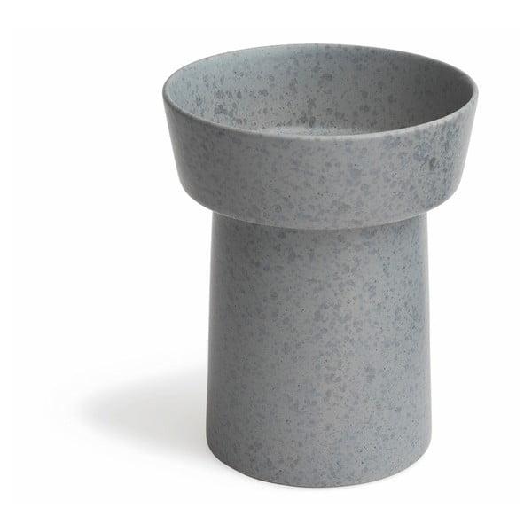 Sivá kameninová váza Kähler Design Ombria, výška 20 cm