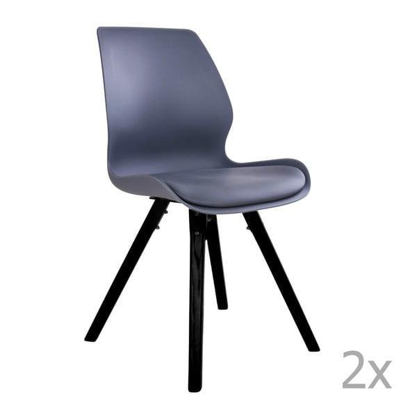 Sada 2 šedých jídelních židlí House Nordic Rana