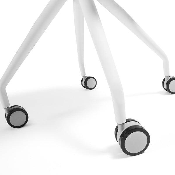Sada 2 bílých židlí a kolečkách La Forma Lars