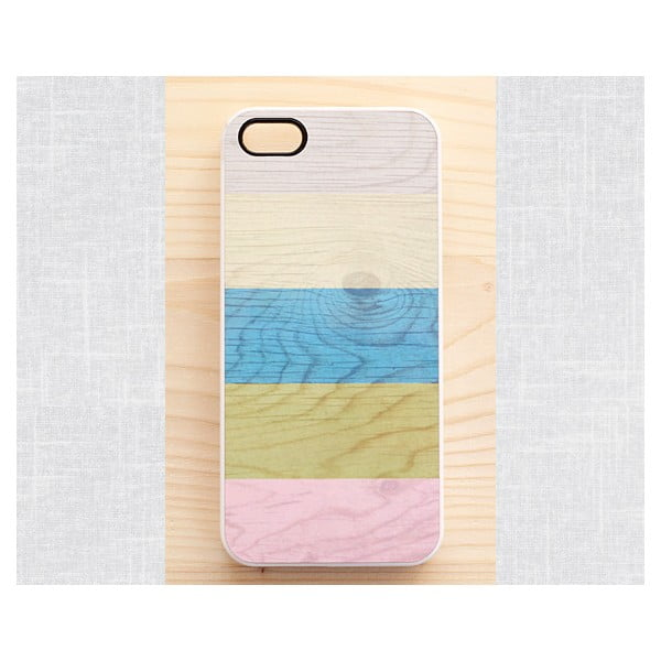 Obal na Samsung Galaxy S4, BPastel Stripes on wood/white I