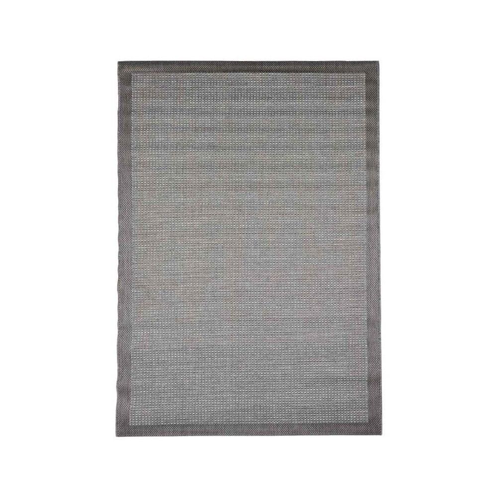 Šedý venkovní koberec Floorita Chrome, 135 x 190 cm
