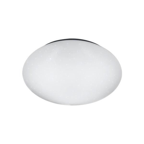 Biała okrągła lampa sufitowa LED Trio Putz, średnica 27 cm