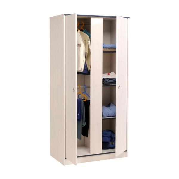 Dvoudveřová šatní skříň v dekoru borovicového dřeva Parisot Amoux
