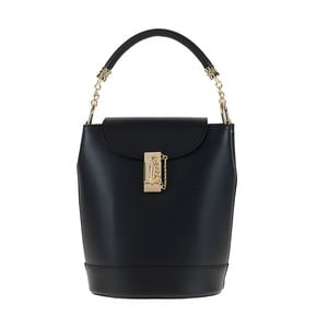 Černá kožená kabelka / batoh Tina Panicucci Slimo