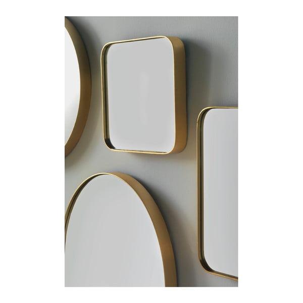 Nástěnné zrcadlo ve zlaté barvě Geese Pure, 30x30cm