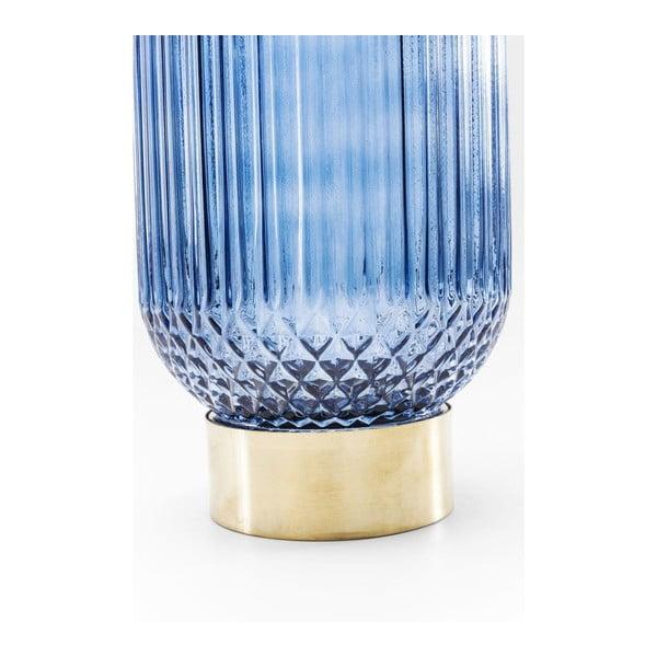 Modrá váza Kare Design Barfly Blue, 34cm