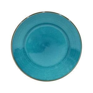 Modrý talíř z kameniny Casafina Sardegna,⌀30cm