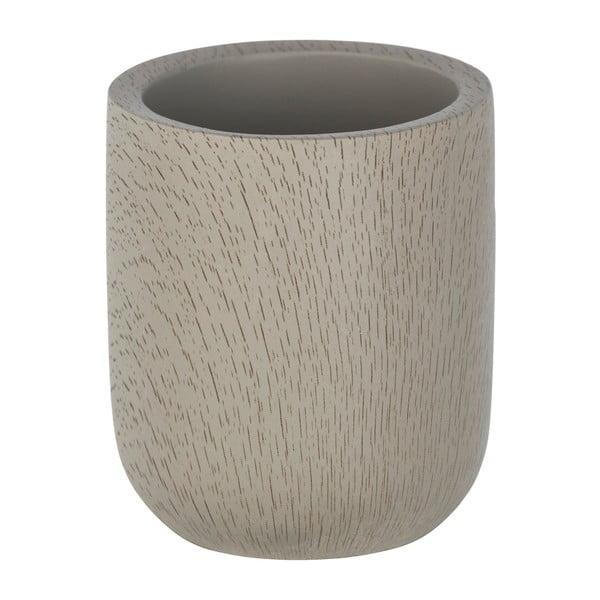 Šedohnědý cementový kelímek na kartáčky Wenko