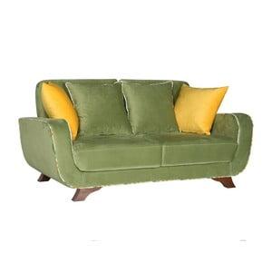 Zelená dvoumístná pohovka Sinkro Frank