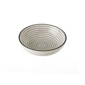 Šedobílá porcelánová miska Unimasa Signal, Ø12,6cm