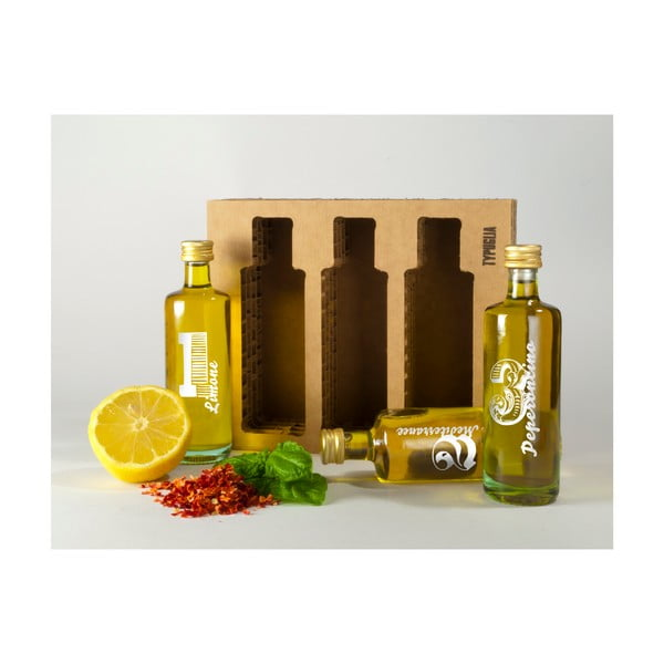 Set extra panenských olivových olejů Typuglia, různé druhy