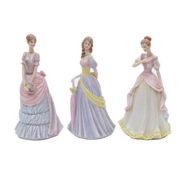 Sada 3 dekorativních sošek Bolzonella Victorian Ladies