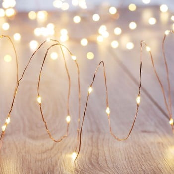 Set 4 șiraguri luminoase cu leduri DecoKing, 4 x 20 beculețe, lungime 2,3 m