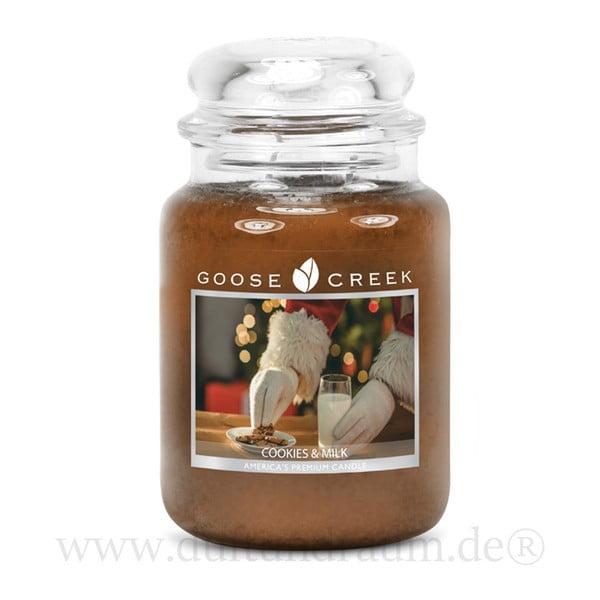 Vonná sviečka v sklenenej dóze Goose Creek Koláčiky a mlieko, 150 hodín horenia