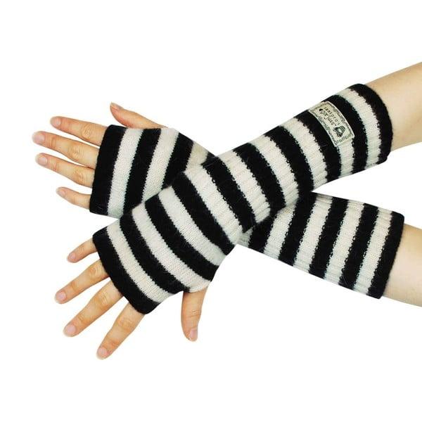 Čierno-biele návleky na ruky Santoro London Gorjuss Stripy Arm