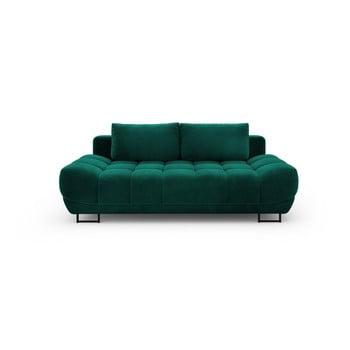 Canapea extensibilă cu înveliș de catifea cu 3 locuri Windsor & Co Sofas Cirrus, verde de la Windsor & Co Sofas