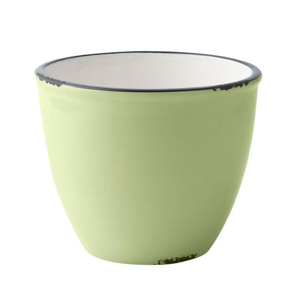 Keramický květináč, lime green