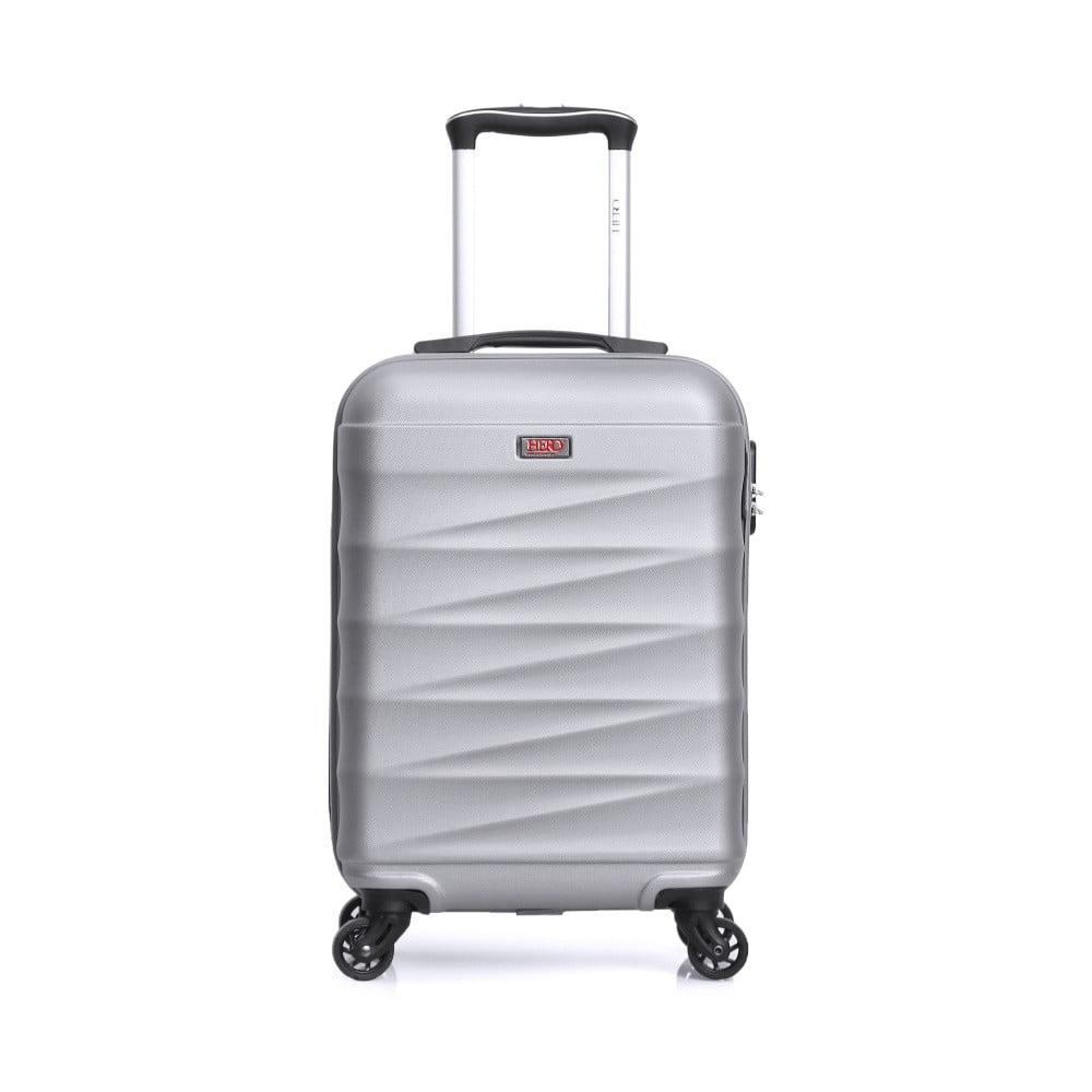 Bílý cestovní kufr na kolečkách Hero Wave, 32 l