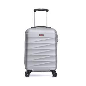 Bílý cestovní kufr na kolečkách Hero Wave