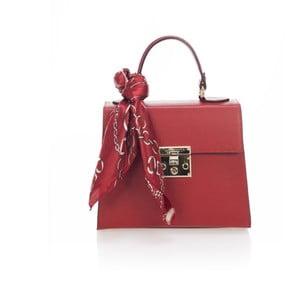 Červená kožená kabelka Lisa Minardi Nudora