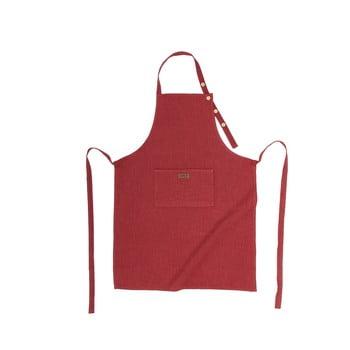 Șorț de bucătărie cu adaos de in Tiseco Home Studio, roșu vișiniu de la Tiseco Home Studio