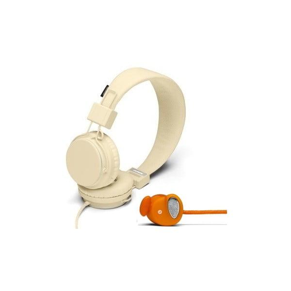 Sluchátka Plattan Cream + sluchátka Medis Orange ZDARMA